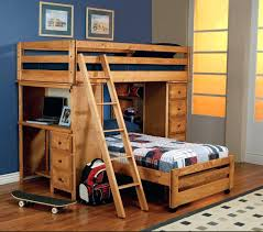 Single Bunk Bed With Desk Childrens Bed With Ladder U2013 Alil Me