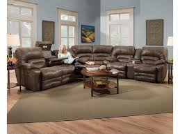franklin legacy reclining sectional sofa with drop table lights
