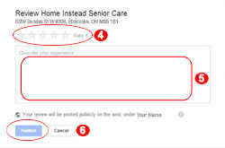 review us on google facebook yelp senior home care etobicoke