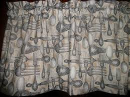 Kitchen Curtains On Sale by Silverware Fork Spoon Fabric Kitchen Curtain Topper Valance