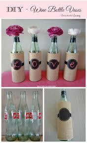 Diy Plastic Bottle Vase Diy Wine Bottle Vases Beauteeful Living