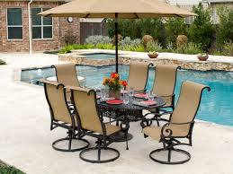 Chair King Outdoor Furniture - savannah sling aluminum 7 pc swivel dining set chair king