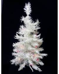 artificial christmas trees multi colored lights new savings on darice 3 battery operated pre lit led white pine