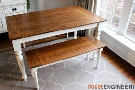 Farm Tables With Benches 40 Diy Farmhouse Table Plans U0026 Ideas For Your Dining Room Free