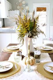 dining table center piece gorgeous dining table fall decor ideas for every special day in