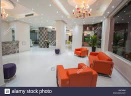interior design of a luxury hotel resort lobby reception area with