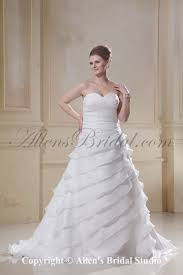 allens bridal sweetheart chiffon ruched sweep train a line plus
