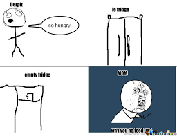 Fridge Meme - empty fridge needs food by sadfissad meme center