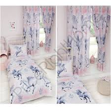Duvets And Matching Curtains Stardust Unicorn Duvet Cover Sets U0026 Matching Curtains Single