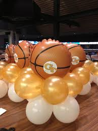 basketball centerpieces centerpieces basketball tech gold white balloonacy atlanta