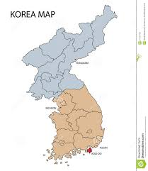 Map Of South Korea Map Of North And South Korea Royalty Free Stock Images Image