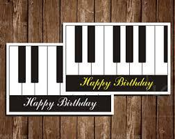 piano birthday card etsy