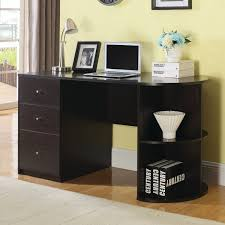 coaster 881071 writing desk with filing cabinet in cappuccino