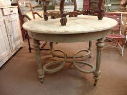 antique country french louis xvi round dining table sold