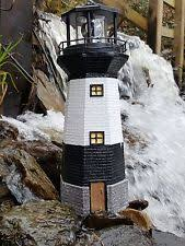 solar power lighthouse rotating led garden ornament ebay