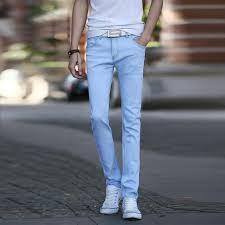 mens light blue jeans skinny 2018 2015 new arrival light blue jeans men fashion slim fit men