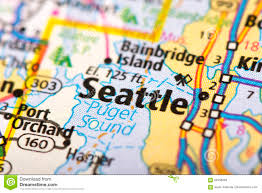 Seattle On Map by Seattle Washington On Map Stock Photo Image 85558894