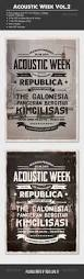 acoustic night concert flyer poster concert flyer flyer