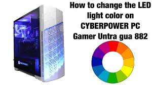 amazon cyberpowerpc black friday how to change the led light color on a cyberpower pc youtube