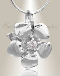 cremation jewlery silver cremation jewelry and flower ash keepsakes