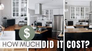 ikea kitchen cabinets average price cost breakdown diy ikea modern farmhouse kitchen renovation