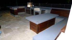 modern outdoor kitchen ultra modern outdoor kitchen table u0026 bench outdoor living florida