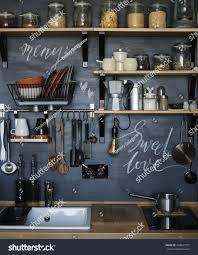 designs of modern kitchen design modern home kitchen loftstyle rustic stock photo 399947377