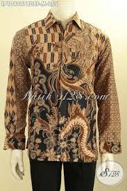 desain baju batik halus hem batik pria bahan dolby kemeja batik halus elegan desain mewah