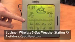bushnell 5 day accuweather weather station opticsplanet com