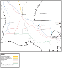 Louisiana Cities Map by Bogalusa Bayou Railroad Bbay Watco Companies