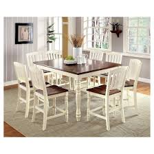 Cottage Style Dining Room Furniture by Sun U0026 Pine 9pc Cottage Style Counter Dining Table Set Wood Vintage