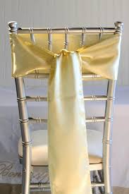 chair sashes daffodil yellow satin chair sashes 6x106