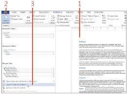 membuat daftar isi table of contents di word 2007 cara membuat banyak daftar isi multiple table of contents di word 2013