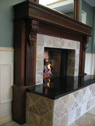 Travertine Fireplace Tile by Decoration Adorable Granite On Fireplace Hearth With Travertine