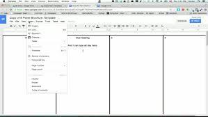 4 panel brochure template brochure templates docs best sles templates