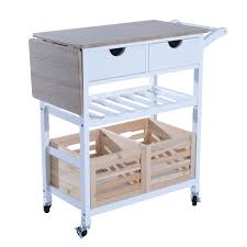 Drop Leaf Kitchen Cart by Aosom Homcom 34
