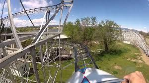 wild chipmunk roller coaster at lakeside amusement park youtube