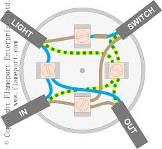 electrical lighting wiring diagrams on loop in junction box within
