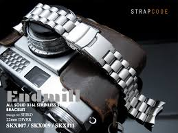 solid stainless steel bracelet images 22mm endmill watch band presidial bracelet for seiko skx007 jpg
