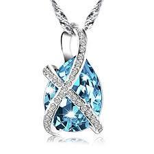 swarovski fashion necklace images Pealrich teardrop fashion jewelry pendant love jpg