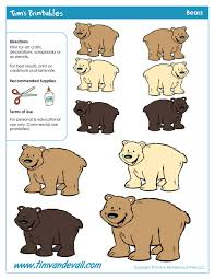 bear templates tim u0027s printables