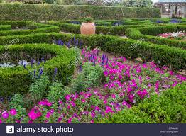 Bermuda Botanical Gardens Large Clay Planters And Clipped Boxwood Hedges Are Part Of The