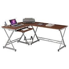 Wooden Corner Desk Top Have Slide Out Drawer For Keyboard by Amazon Com Techni Mobili Modern L Shape Corner Desk With Pull Out