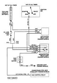 1993 dodge shadow wiring for cooling fan electrical problem 1993