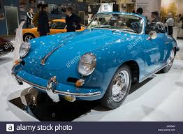 vintage porsche blue blue 1963 porsche 356 classic sports car racing in a rally in