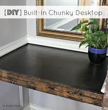 Built In Desk Diy Diy Built In Chunky Desktop Hi Sugarplum