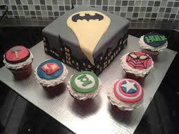 batman thor superman green lantern hulk spiderman cake
