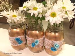 jar center pieces bridal shower jars