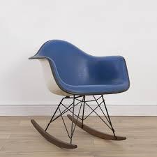 1 x herman miller vintage original eames upholstered blue white
