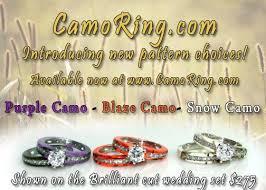 camo wedding sets orange camo wedding rings wedding corners